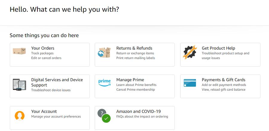 Amazon's customer service
