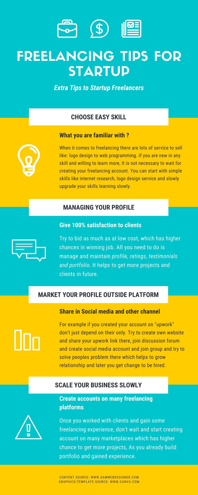 Freelancing tips for startup