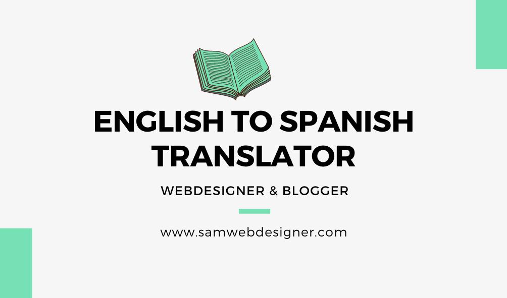 Translate English to Spanish