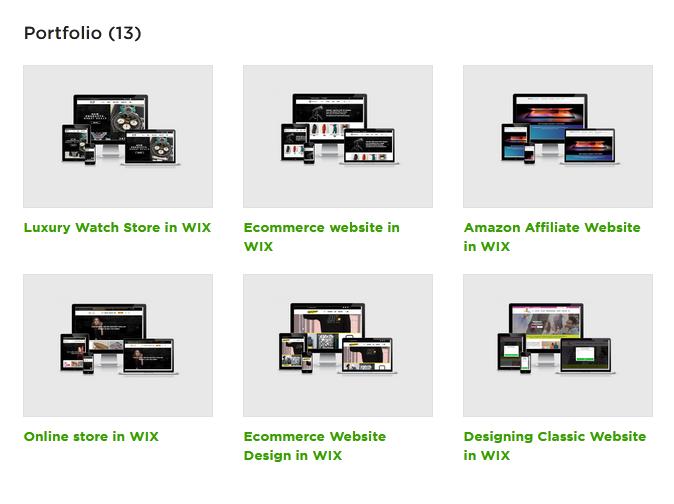 freelancer website portfolio