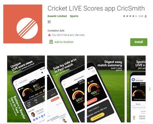 live cricket scorecard