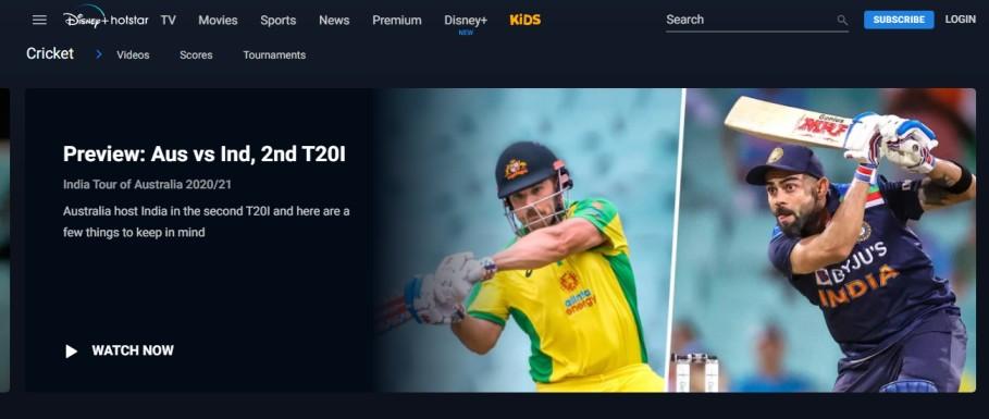 watch cricket score