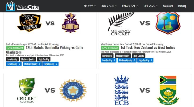 Get Live Cricket Score