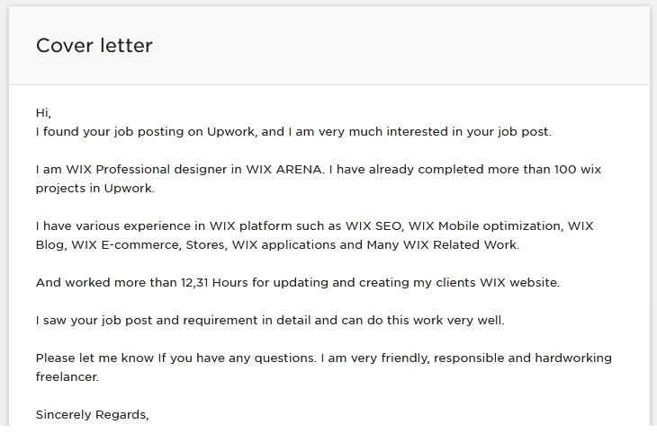 Freelancer proposal examples