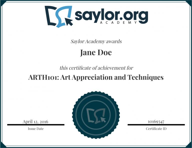 saylor certification