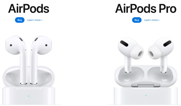 airpods of apply company